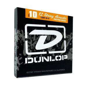 DUNLOP - Dap1252j Ag-phb Medium muta per chitarra acustica 12 corde 12/52