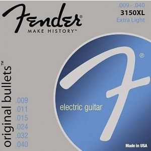 FENDER - 3150XL Extra Light Original Bullets Pure Nickel 009-.040 0733150402 muta per chitarra elettrica