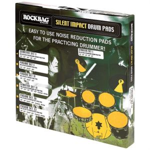 ROCKBAG - Rb22190b PAD SILENZIATORI PER BATTERIA ACUSTICA Standard Drum Pad Pack Starter I