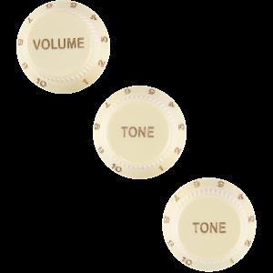FENDER - Manopole Knobs For Startocaster Aged White 0992008000