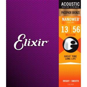 ELIXIR - 16102 Corde Per Chitarra Acustica Phosphor Bronze Medium Corde 13/56