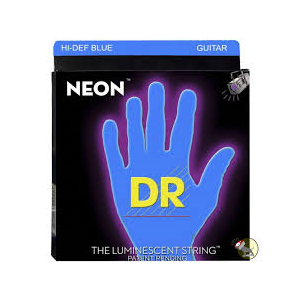 DR - Nbe-9 Neon Hhi-def Blue Ce 9 42 Lite muta corde per chitarra elettrica