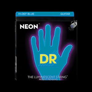 DR - Nbe-10 Neon Hi-def Blue Ce 10 46 Medium muta corde per chitarra elettrica