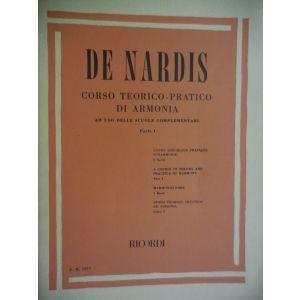 RICORDI - De Nardis Corso Teorico Pratico Di Armonia Parte I ER1577