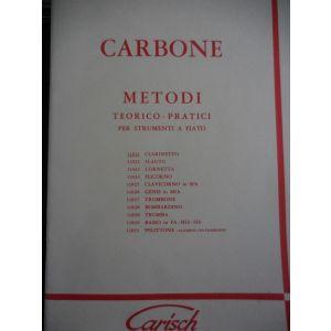 CARISCH - Carbone Metodi Teorico-pratico X Clarinetto
