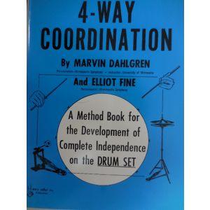 WARNER - 4-way Coordination A Method Book For Drum Set