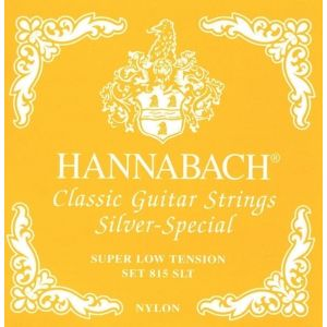 HANNABACH - H815 Slt Set Yellow Super Low Tension Silver Special set di corde per chitarra classica