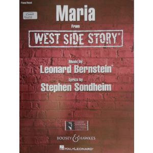 HAL LEONARD - Bernstein Maria From West Side Story Piano-vocal