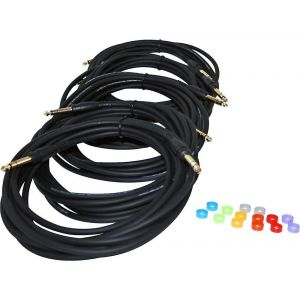 Jam Hub - stereo connection pack Set di 5 cavi con connettori stereo e anelli colorati m.3,6