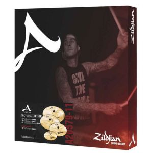 ZILDJIAN - Cartone 5 A Custom 390 A20579-11 Ride+hi-hat+2 Crash