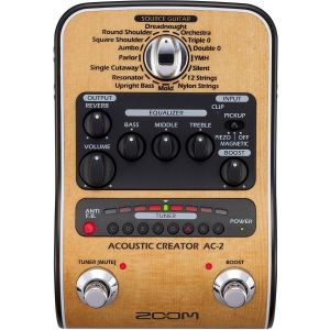 ZOOM - Ac 2 Acoustic Creator Pedale Multieffetto Per Chitarra Acustica