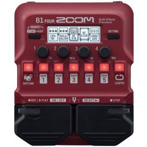 ZOOM - B1 Four Multieffetto Per Basso Con Modelli Di Amplificatore, Looper