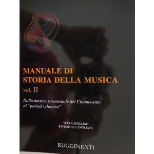 RUGGINENTI - E.Surian Manuale Di Storia Della Musica Vol. II