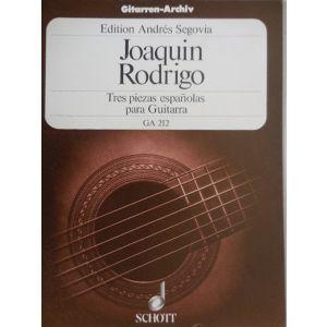 SCHOTT - J.Rodrigo Tres Piezas Espanolas Para Guitarra Ga