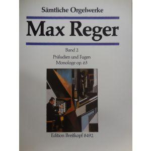 EDITION BREITKOPF - M.Reger Praludien Und Fugen Op 63 Band 2