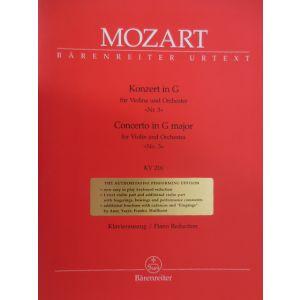 BARENREITER - Mozart W.A. - CONCERTO N°3 IN G MAJOR KV 216 - VIOLIN, PIANO Classical sheets Violin
