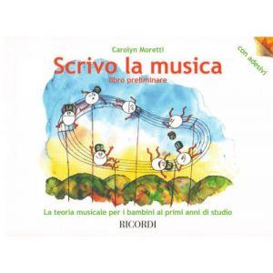 """RICORDI - C.Moretti Teoria Musicale Per Bambini """"scrivo La M"""