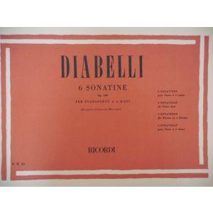 RICORDI - Diabelli 6 Sonatine Op.163 Per Pianoforte A 4 Mani