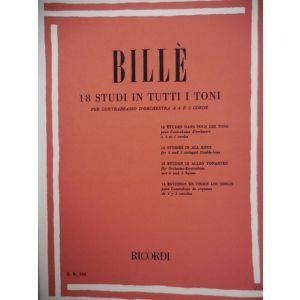 RICORDI - Bille' 18 Studi In Tutti I Toni Contrab. D'orchestra