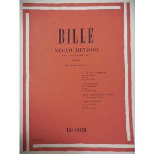 RICORDI - Bille' Nuovo Metodo Per Contrabbasso P Ii Cor.iv N