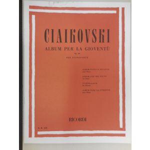 RICORDI - Ciaikovski Album Per La Gioventu' Op.39 Per Pianof