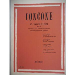 RICORDI - Concone 15 Vocalizzi Op 12 (soprano O Mezzosoprano