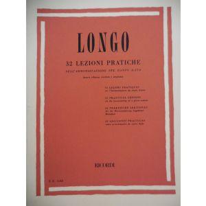 RICORDI - Longo 32 Lezioni Pratiche Sull'armonizzazione Del canto