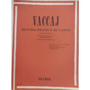 RICORDI - Vaccaj Metodo Pratico Di Canto (contralto O Basso)