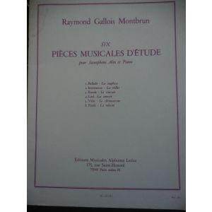 LEDUC - Raymond Gallois Montbrun 6 Pieces Musicales D'etude