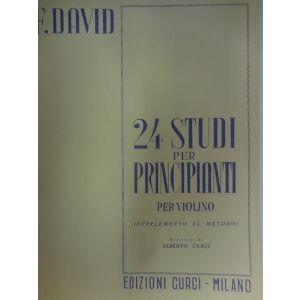 CURCI - F.David 24 Studi Per Principianti Per Violino