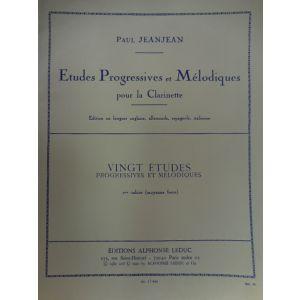 LEDUC - Paul Jeanjean 20 Etudes Progressive Et Melodiques Pour La Clarinette 2 cahier