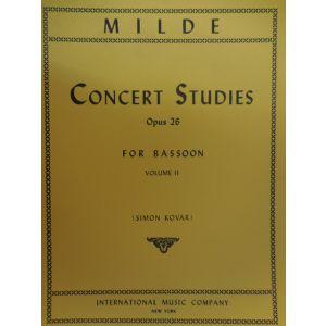 INTERNATIONAL MUSIC COMPANY - Milde Concert Studies Op 26 For Bassoon Vol . II