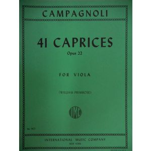 INTERNATIONAL MUSIC COMPANY - Campagnoli 24 Caprices Op 22 For Viola
