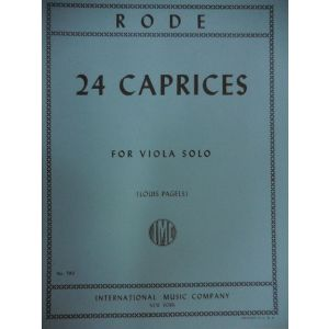 INTERNATIONAL MUSIC COMPANY - Rode 24 Caprices For Viola Solo