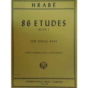 INTERNATIONAL MUSIC COMPANY - Hrabe' 86 Etudes Book I For String Bass