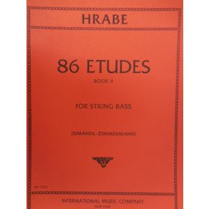 INTERNATIONAL MUSIC COMPANY - Hrabe' 86 Etudes Book II For String Bass