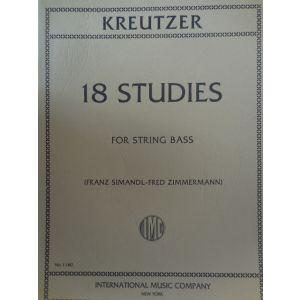 INTERNATIONAL MUSIC COMPANY - Kreutzer 18 Studies For String Bass