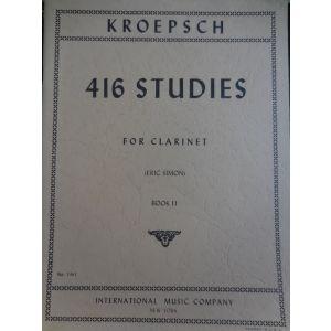 INTERNATIONAL MUSIC COMPANY - Kroepsch 416 Studies For Clarinet