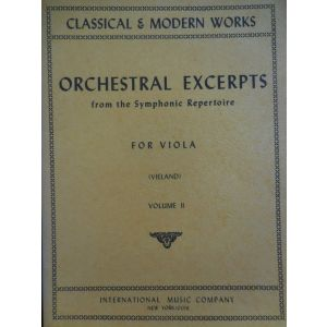 INTERNATIONAL MUSIC COMPANY - Orchestral Excerpts per Viola Vol. II