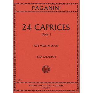 INTERNATIONAL MUSIC COMPANY - Paganini 24 Caprices Op. 1 per Violin Solo
