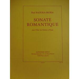 LEDUC - Paul Badura-Skoda Sonate Romantique Pour Flute (ou Violon et Piano)