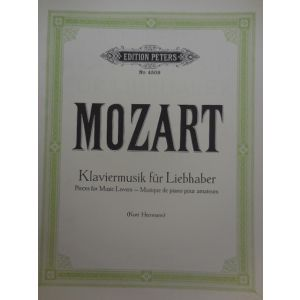 EDITION PETERS - Mozart Pieces For Music Lovers Per Pianoforte