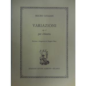 SUVINI ZERBONI - M.Giuliani Variazioni Op.2 Per Chitarra