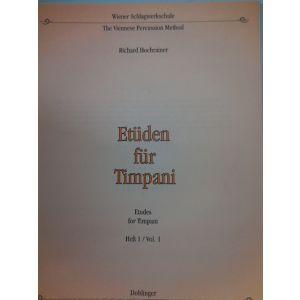 EDIZIONI MUSICALI RIUNITE - R.Hochrainer Etuden Fur Timpani Heft 1 Vol.1