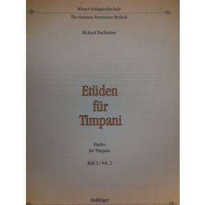 EDIZIONI MUSICALI RIUNITE - R.Hochrainer Etuden Fur Timpani Heft 2 Vol.2