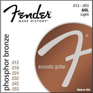 FENDER - 60L Corde Per Chitarra Acustica 12-53 Phosphor Bronze