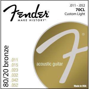 FENDER - 70CL Corde Per Chitarra Acustica Ball End 11-52