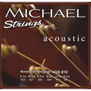 MICHAEL STRINGS - Ags 910 13/56 Bronze 80/20 Heavy Gauge