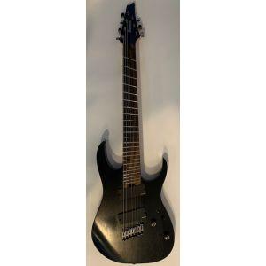 IBANEZ - Iron Label RGIM7MH Multiscal Black EX DEMO chitarra elettrica 7 corde