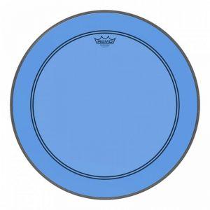 REMO - Powerstroke 3 Trasparente 22' colortone Blu Pelle Trasparente per cassa